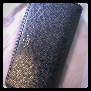 Kate Spade Large Pebble Leather Wallet